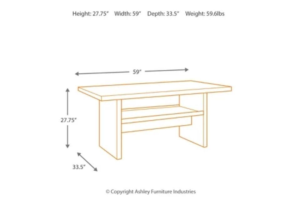 Salceda Dark Tone Rectangular Table
