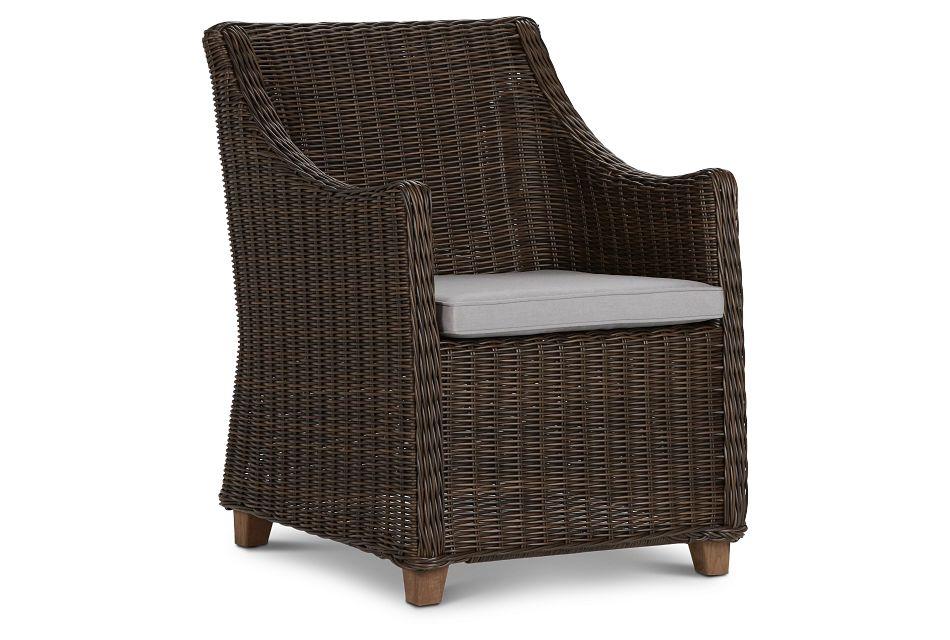 Canyon Dark Brown Gray Woven Arm Chair