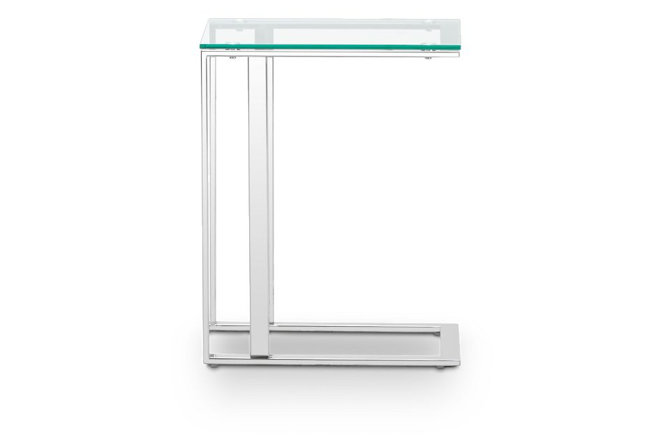 Arco Clear Glass Chairside Table, %%bed_Size%% (3)