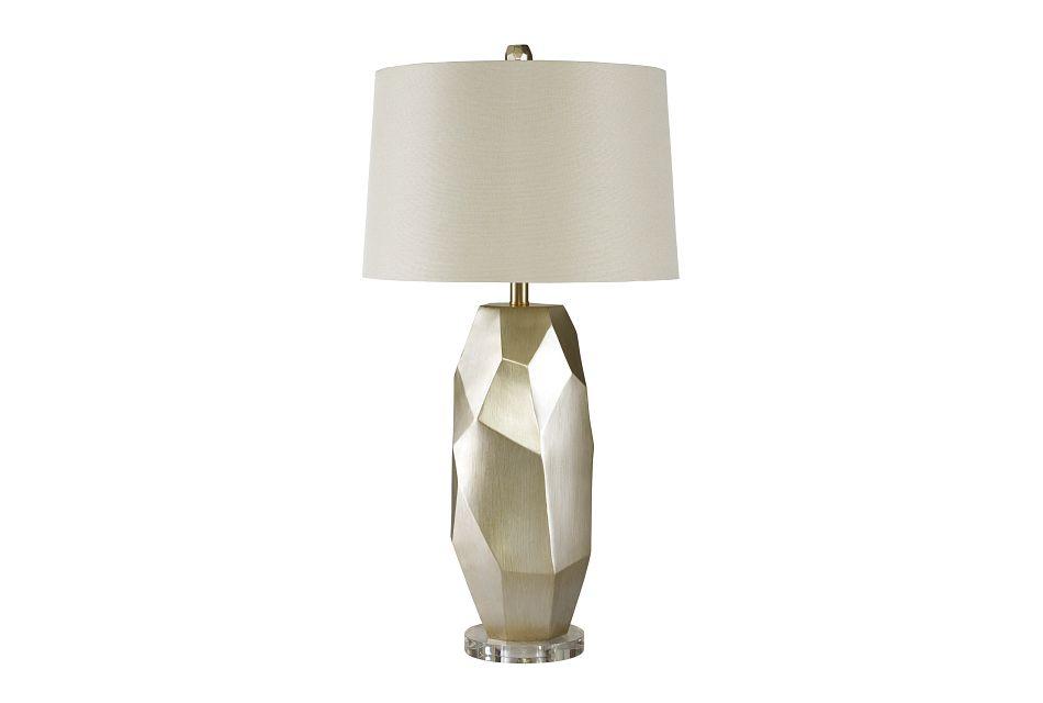 Darda Silver Acrylic Table Lamp