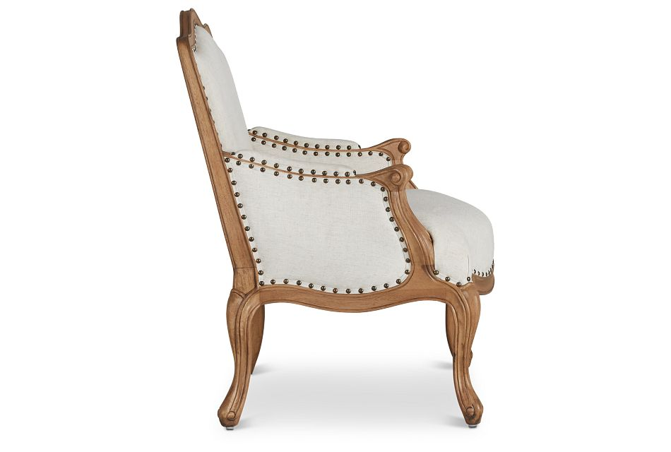 Cambridge Light Taupe Fabric Accent Chair