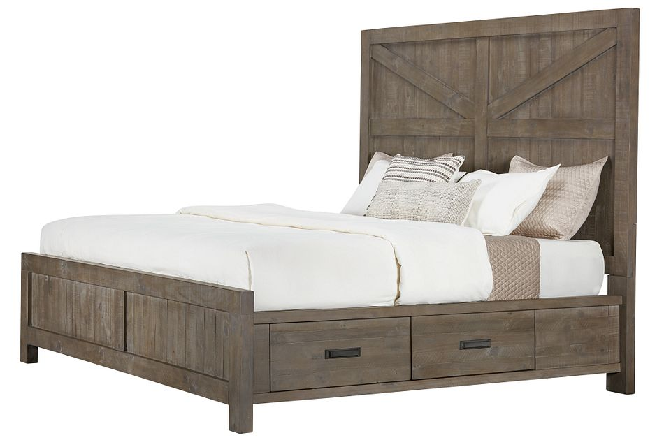 Taryn Gray Right Panel Storage Bed