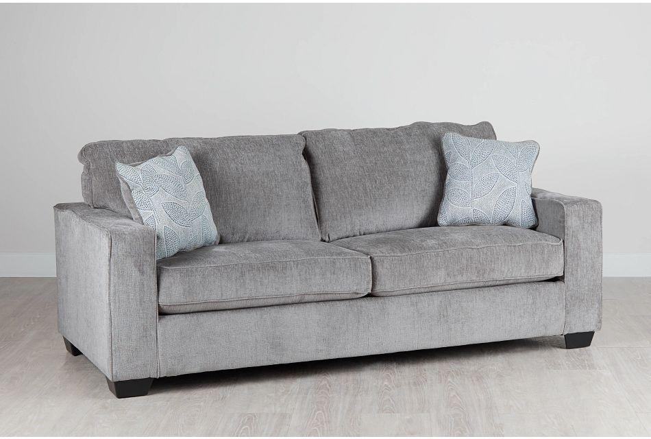 Altari Light Gray Micro Memory Foam Sleeper, %%bed_Size%% (1)