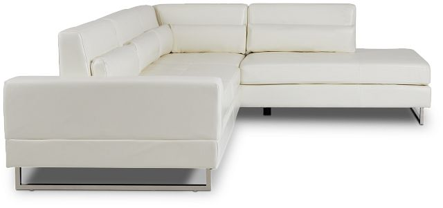 Alec White Micro Right Chaise Sectional (2)