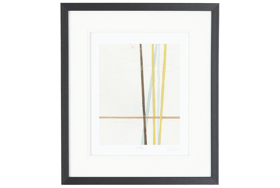 Linear Multicolored Framed Wall Art