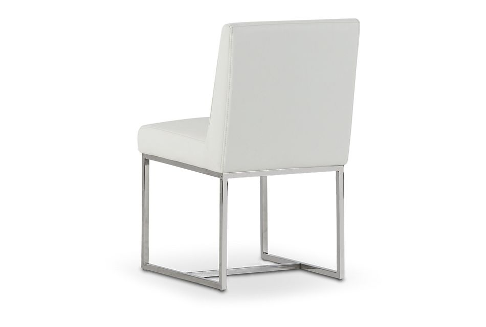 Miami White Micro Upholstered Side Chair