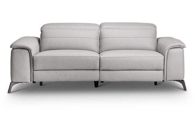 Pearson Gray Leather Power Reclining Sofa