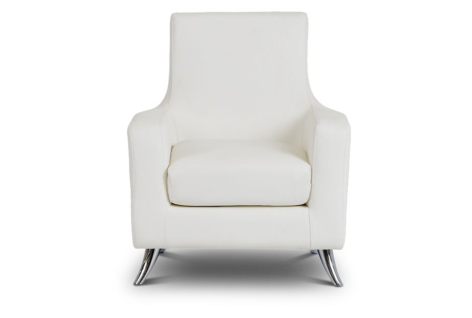 Marquez White Micro Accent Chair,  (3)