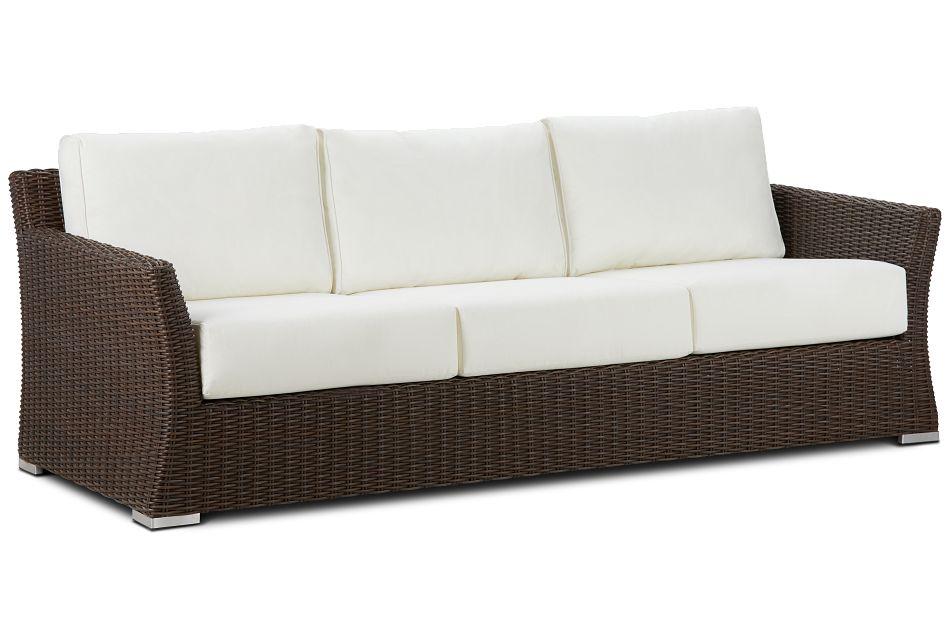 Southport White Woven Sofa