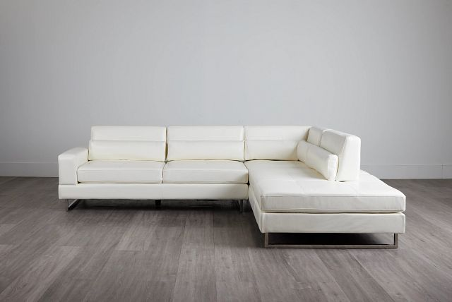 Alec White Micro Right Chaise Sectional (0)