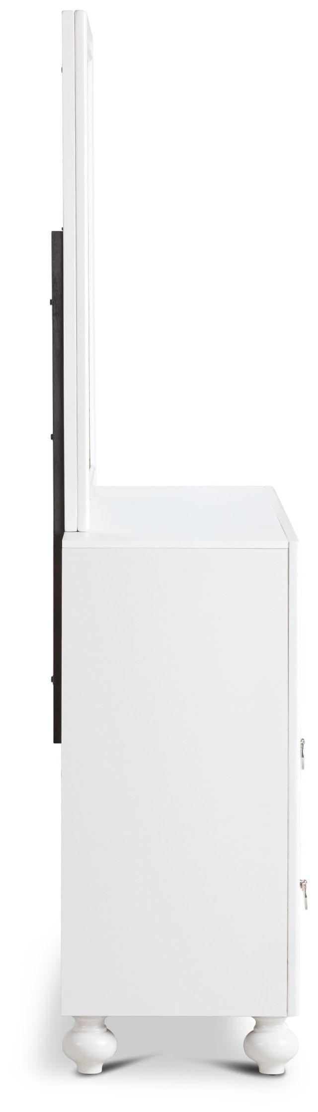 Isabella White Youth Dresser & Mirror (3)