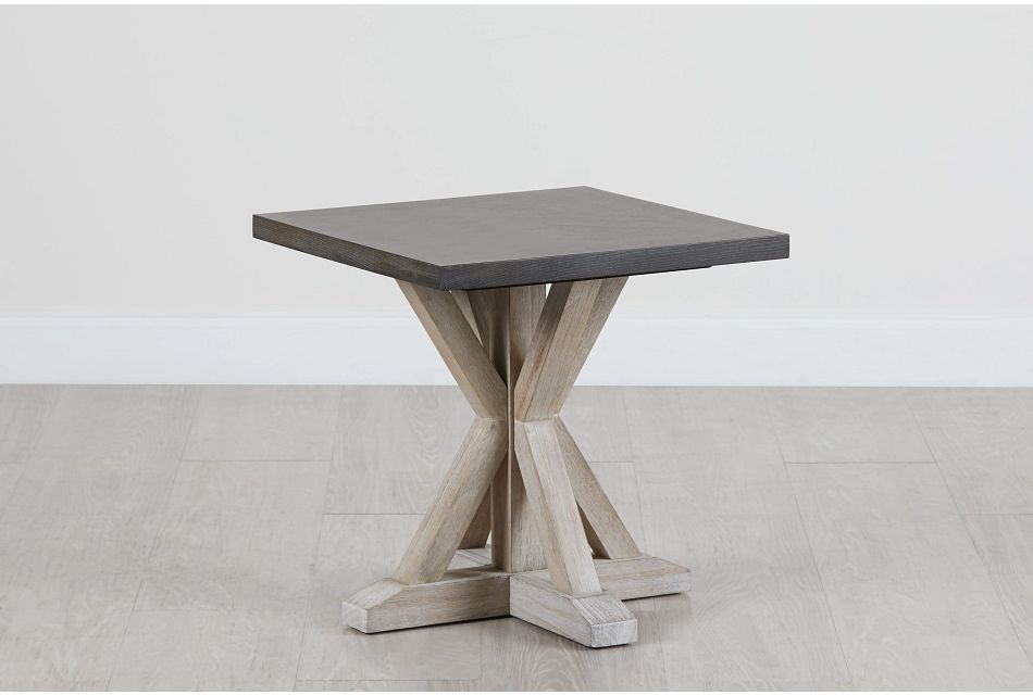 Jefferson Two-tone Square End Table