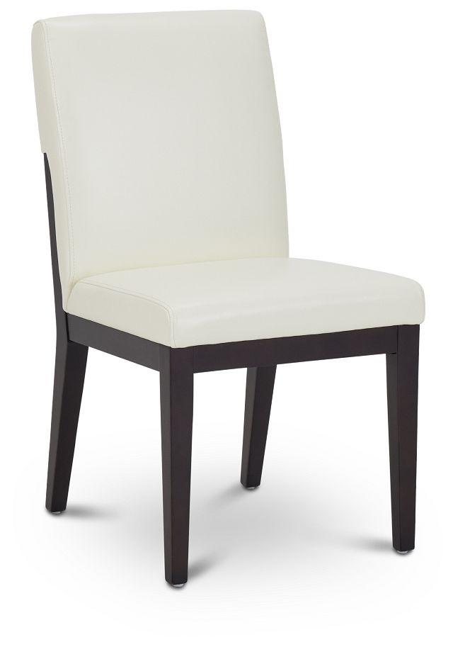 Lago White Bonded Ltr Side Chair (2)