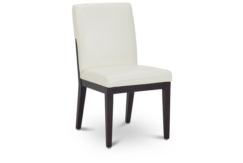 Lago White Bonded Ltr Side Chair