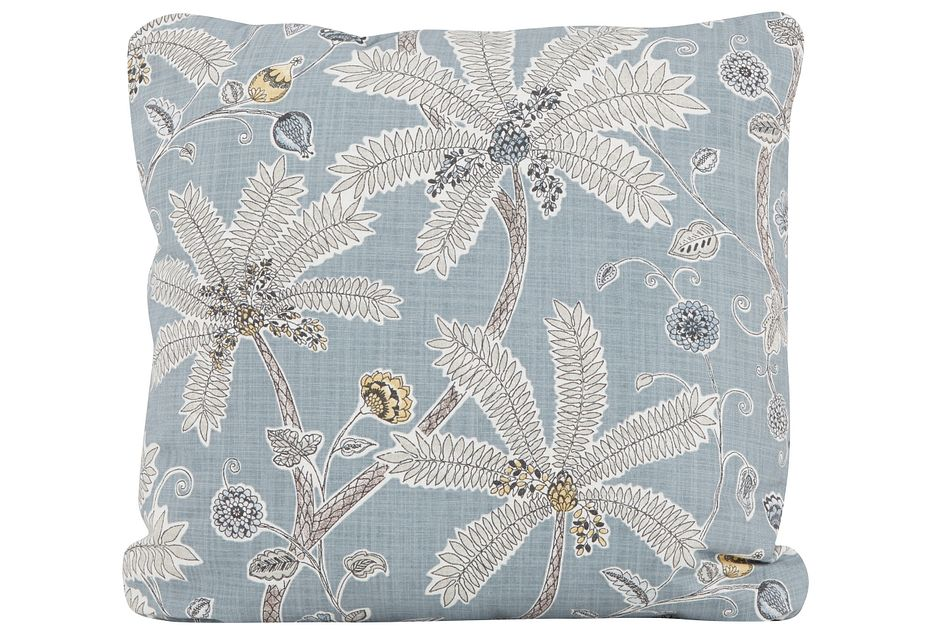 Indienne Blue Fabric Square Accent Pillow