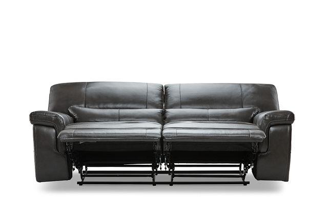 Weston Dark Gray Lthr/vinyl Power Reclining Sofa (1)
