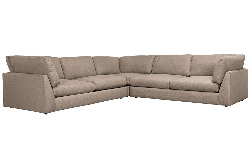 Harper Dark Taupe Fabric Two-arm Sectional