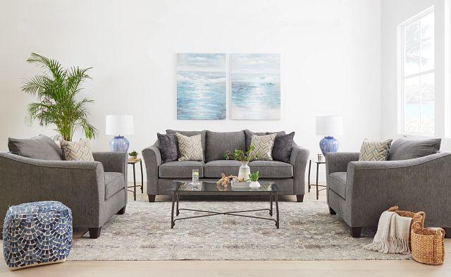 Maggie Dark Gray Fabric Chair