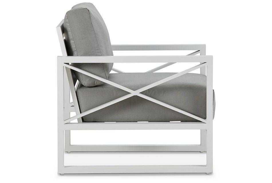 Linear White Dark Gray Aluminum Chair