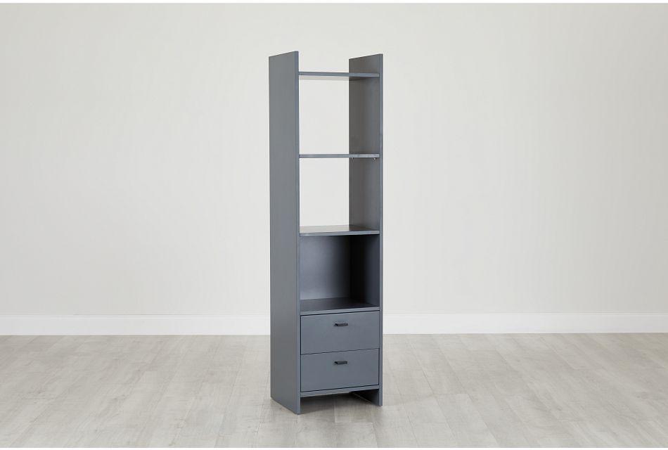 Delray Dark Gray Open Bookcase,  (0)