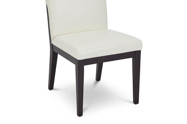 Lago White Bonded Ltr Side Chair (0)