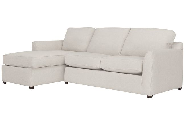 Asheville Light Taupe Fabric Left Chaise Sectional