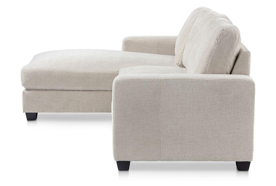 Estelle Beige Fabric Left Chaise Sectional