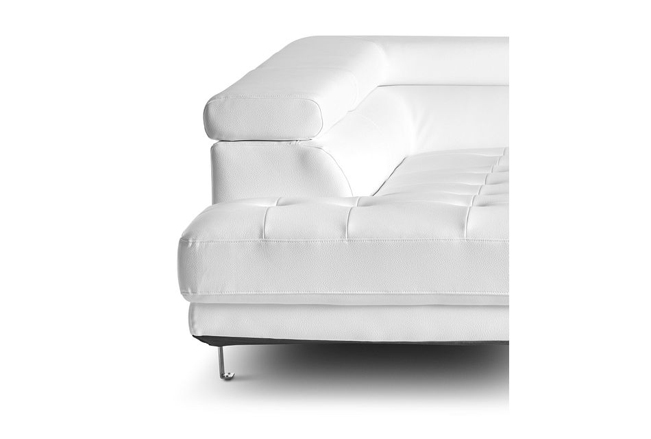 Zane White Micro Left Chaise Sectional