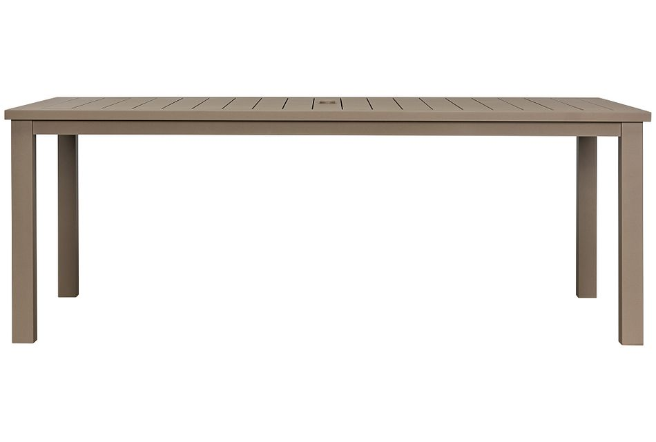 "Raleigh Taupe 81"" Rectangular Table"
