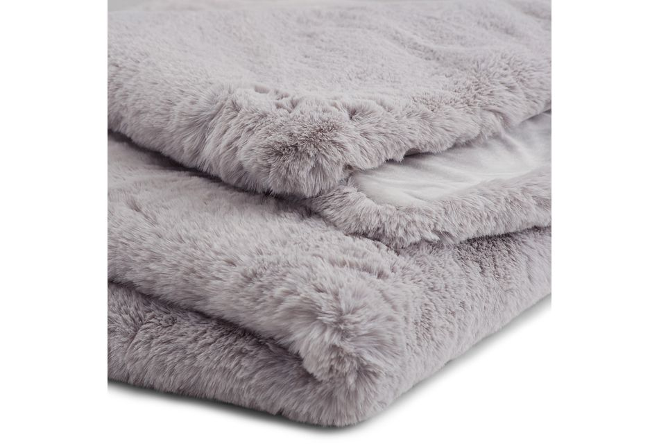 Kaycee Light Gray Throw