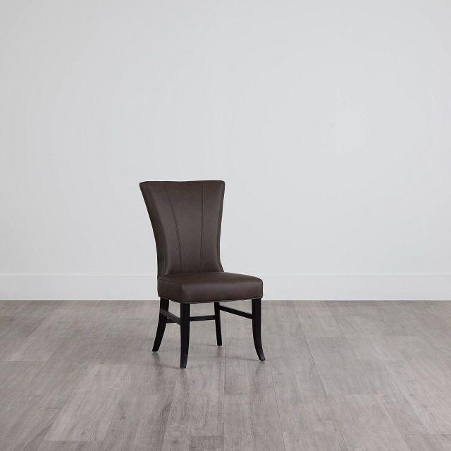 Lori Dark Brown Micro Side Chair (0)