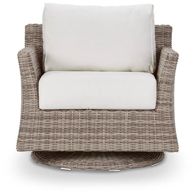 Raleigh White Swivel Chair (2)