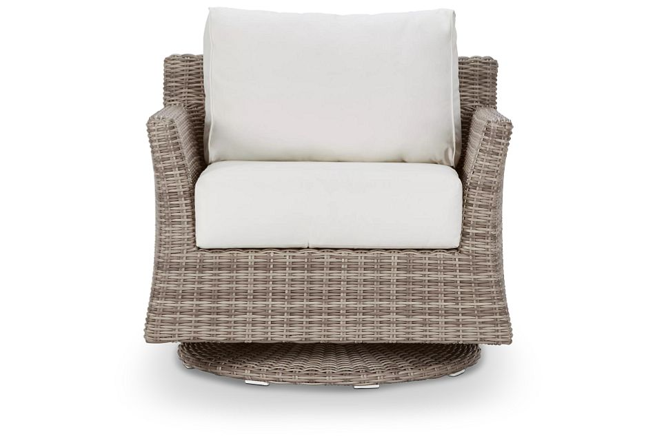 Raleigh White Swivel Chair