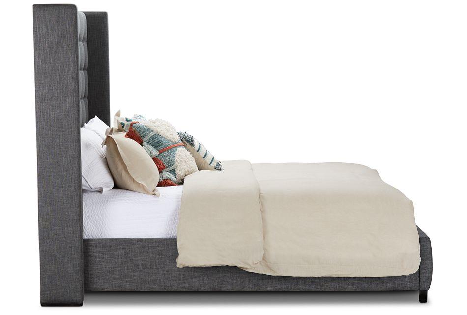 Chatham Dark Gray High Platform Bed, Queen (2)