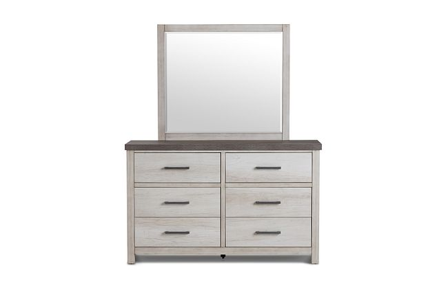 Casper Light Tone Youth Dresser & Mirror
