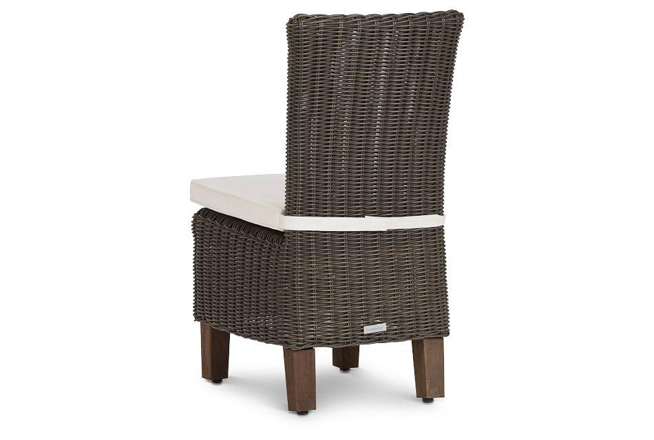 Canyon Gray White Woven Side Chair