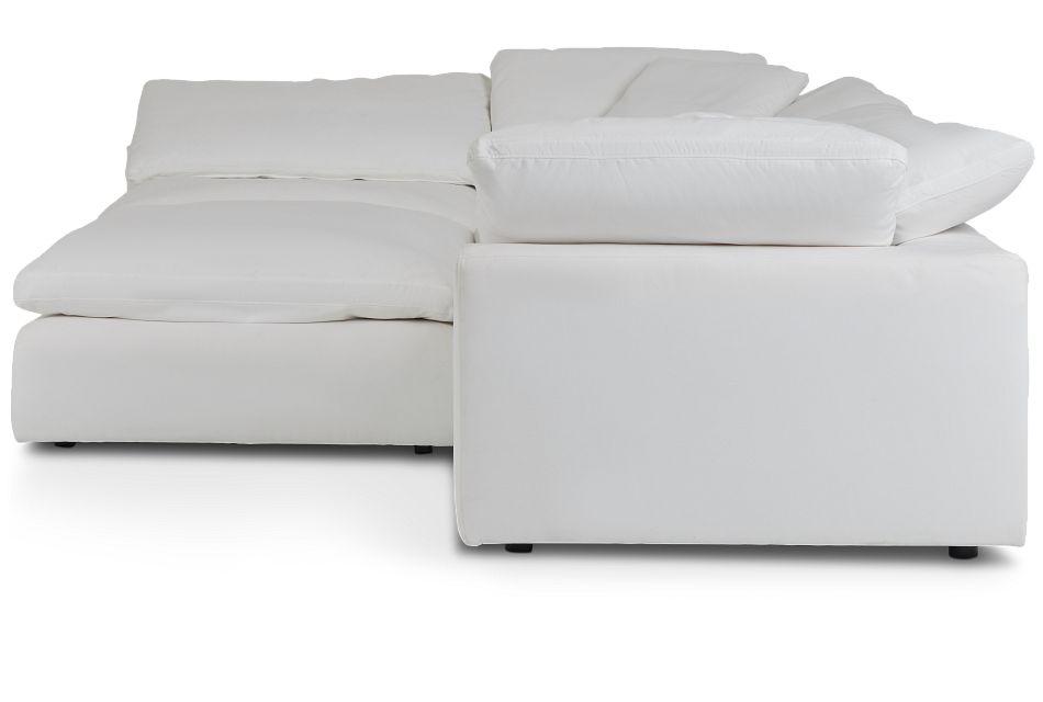 Nixon White Fabric Sectional,  (2)