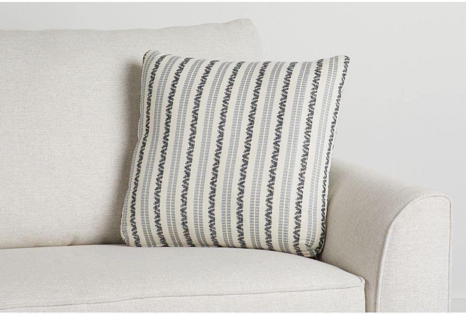 "Budreau Blue Fabric 18"" Accent Pillow,  (0)"
