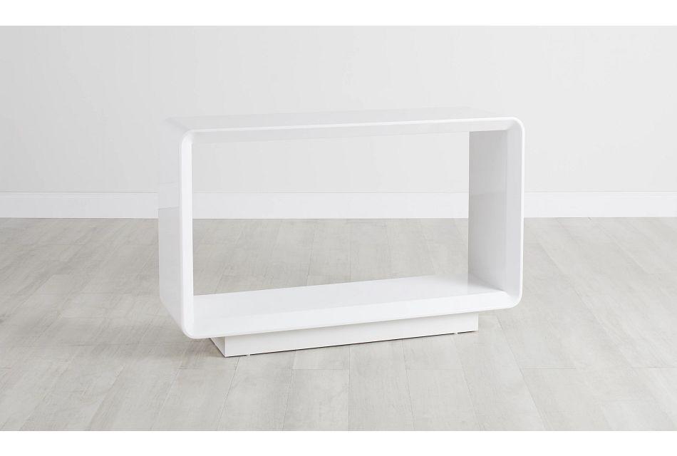 Zayden White Sofa Table,  (0)