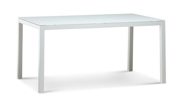 """Lisbon2 White 60"""" Rectangular Table (1)"""