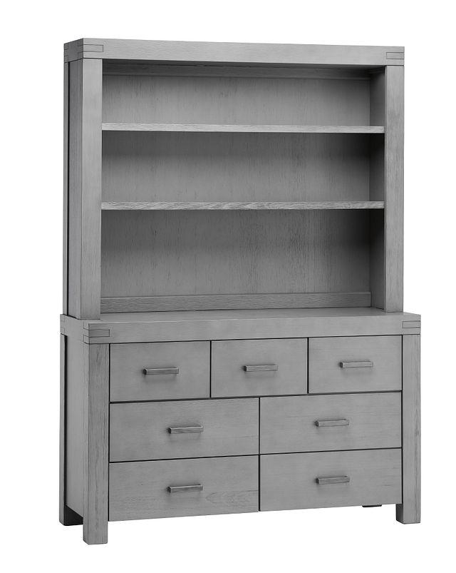 Piermont Gray Dresser & Hutch (2)
