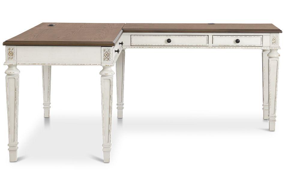 Realyn2 Two-Tone Lift-Top Return Desk,  (3)