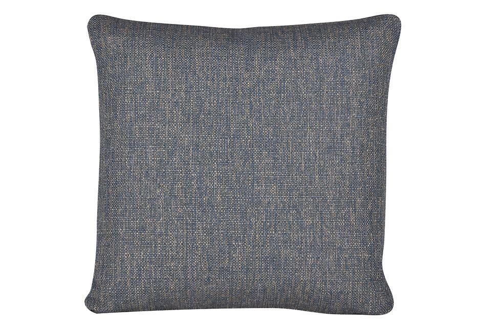 Austin Blue Fabric Square Accent Pillow