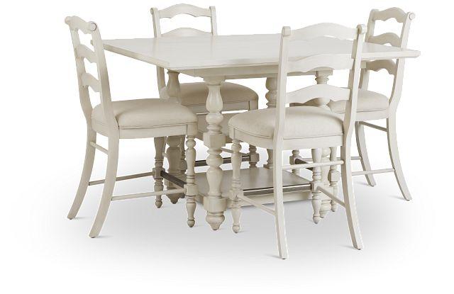 Savannah Ivory High Table & 4 Barstools (1)