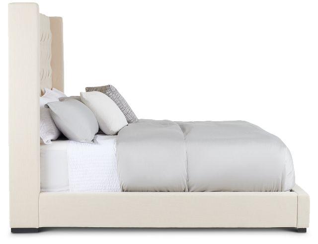 Lacey Beige Uph Platform Bed (2)