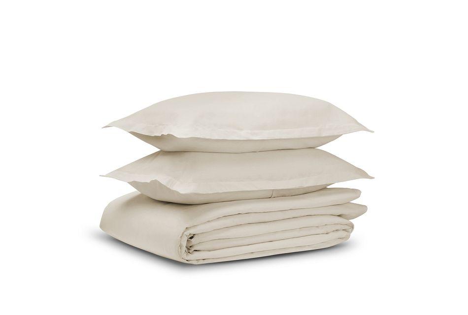 Linen Blend Ivory Duvet Set