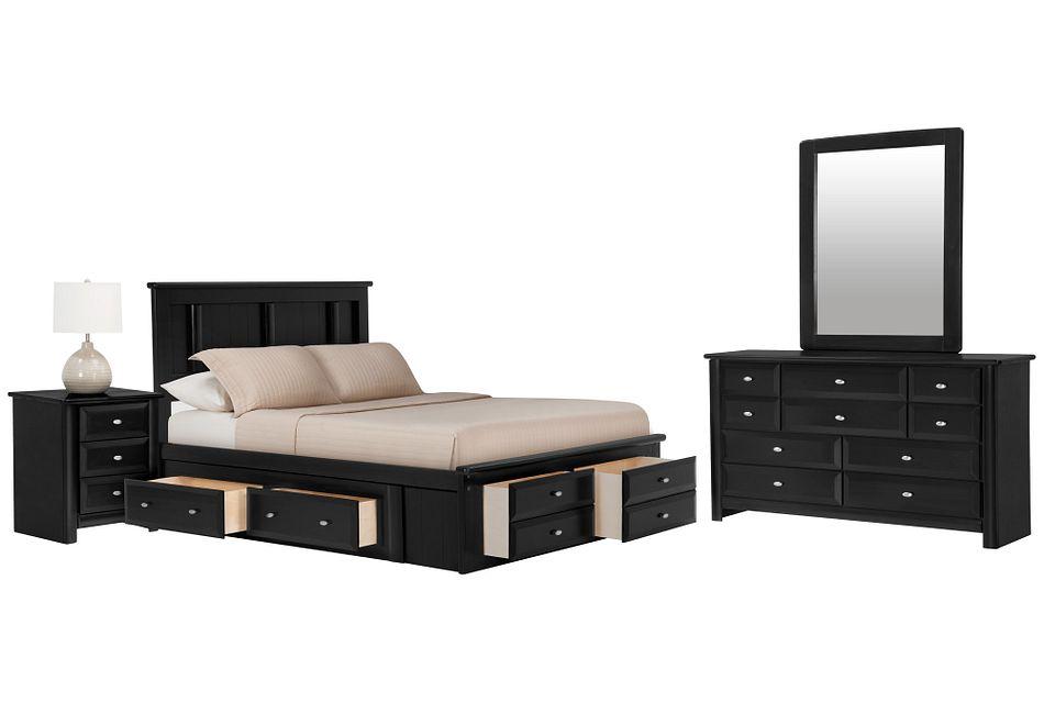 Laguna Black Platform Storage Bedroom