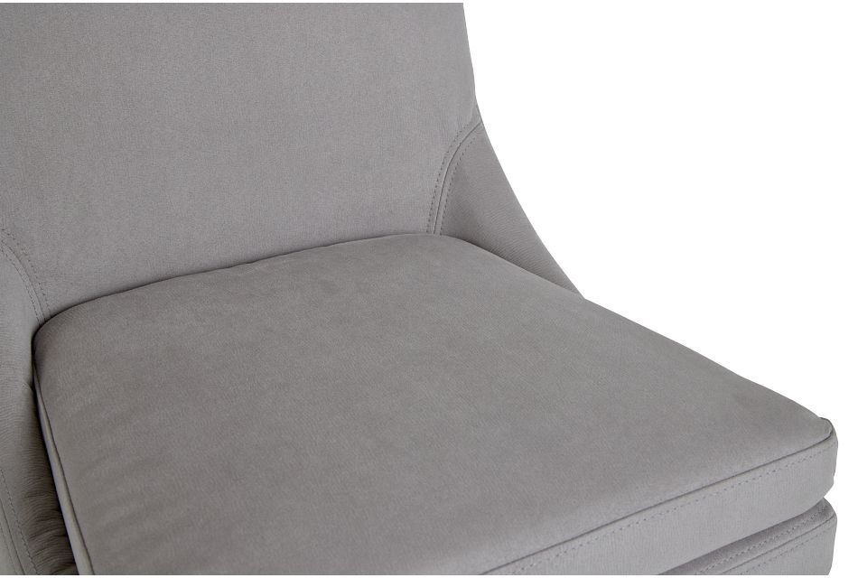 Tito Light Gray Upholstered Side Chair