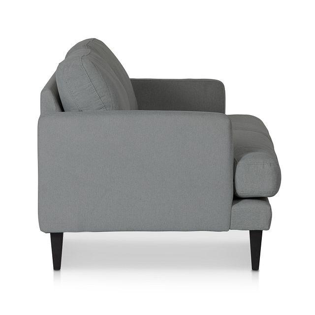Fremont Gray Fabric Loveseat (2)