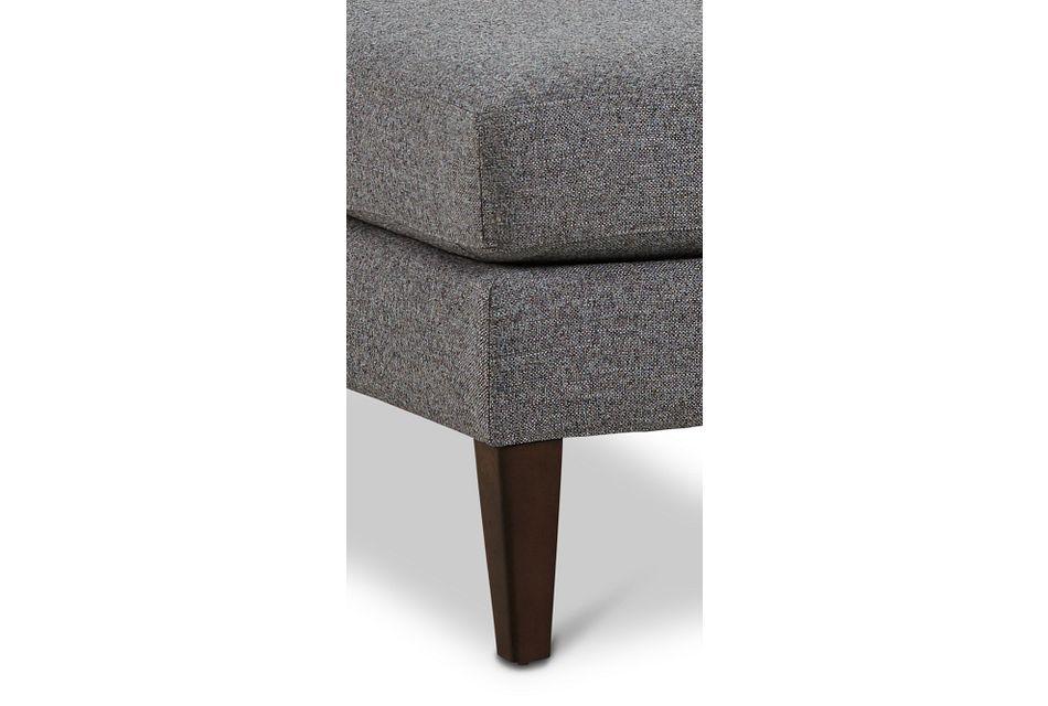 Morgan Dark Gray Fabric Cocktail Ottoman With Wood Legs